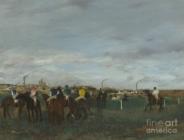 Wall Art - Painting - The Races by Edgar Degas