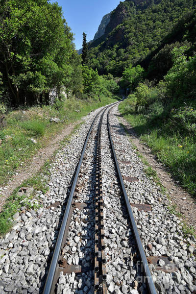 George Canyon Photograph - The Rack Railway In Vouraikos Gorge by George Atsametakis