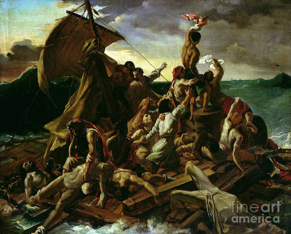 Maroon Painting - The Raft Of The Medusa by Theodore Gericault