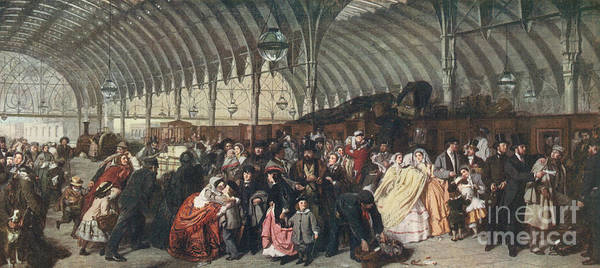 Wall Art - Painting - The Railway Station by William Powell Frith