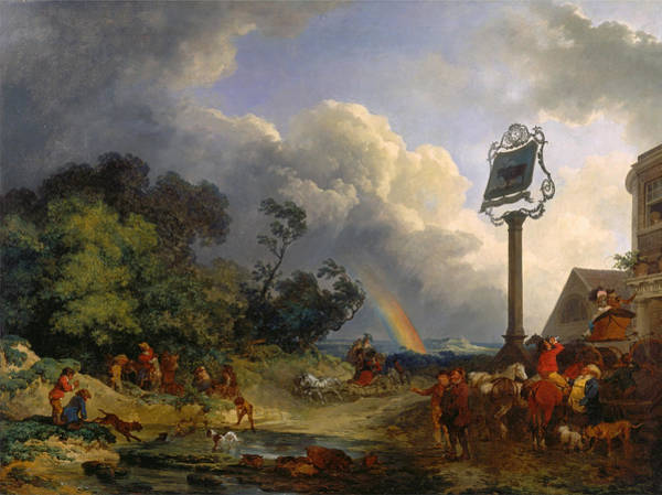 Wall Art - Painting - The Rainbow by Philip James de Loutherbourg