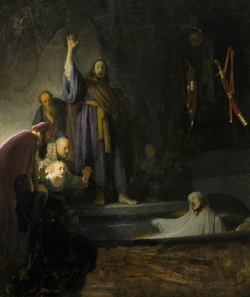 Raising Wall Art - Painting - The Raising Of Lazarus  by Rembrandt