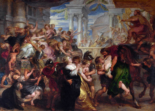 Painting - The Rape Of The Sabine Women by Peter Paul Rubens