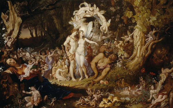 Pixie Painting - The Reconciliation Of Oberon And Titania by Sir Joseph Noel Paton