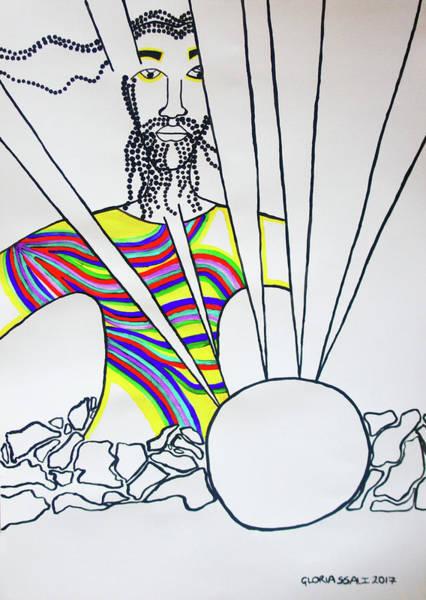 Arisen Painting - The Risen Christ by Gloria Ssali