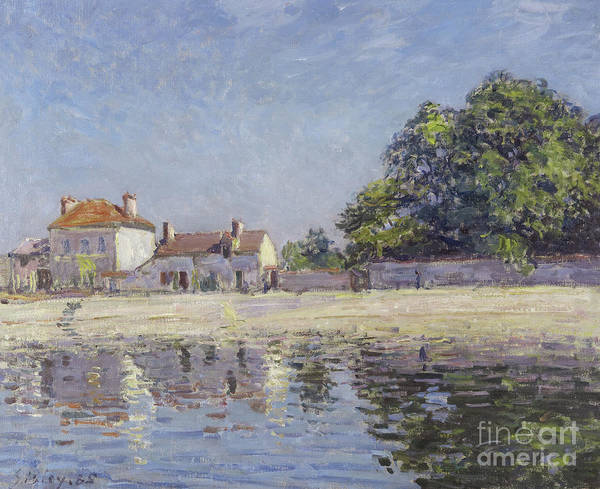 Dappled Light Painting - The River Loing At Saint-mammes by Alfred Sisley