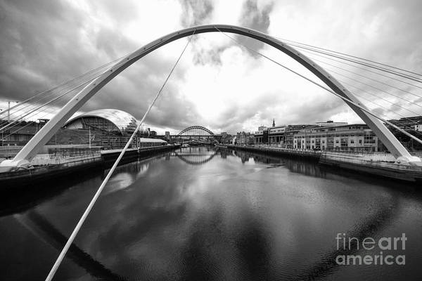 Millennium Photograph - The River Tyne by Smart Aviation