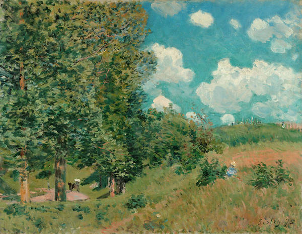 Versailles Wall Art - Painting - The Road From Versailles To Saint-germain by Alfred Sisley