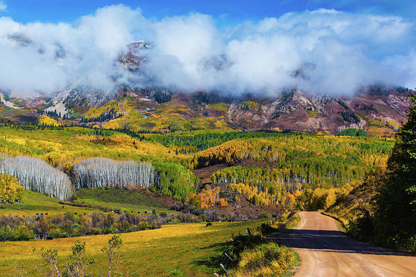 Photograph - The Road To The Elk Mountains by John De Bord