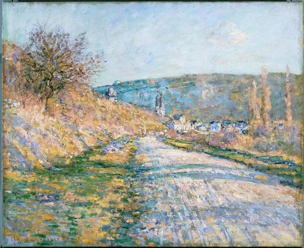 Painting - The Road To Vetheuil by Claude Monet