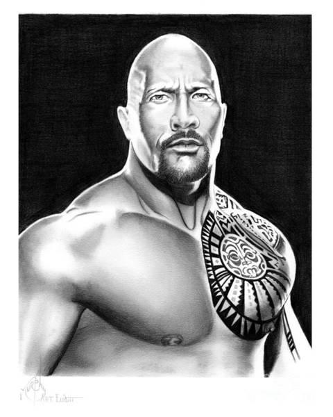 Dwayne Johnson Wall Art - Drawing - The Rock-dwayne Johnson by Murphy Elliott