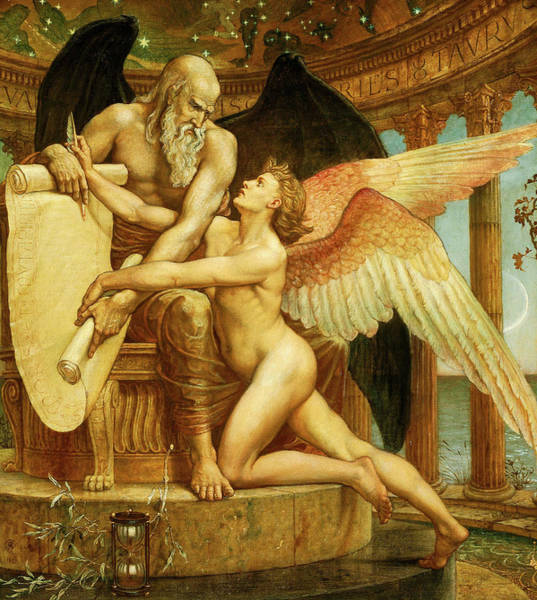 Man Of God Wall Art - Painting - The Roll Of Fate by Walter Crane