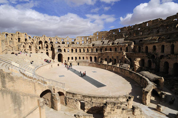 El Jem Photograph - The Roman Amphitheatre At El Djem In Tunisia by Liz Pinchen