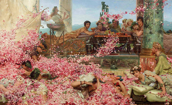 Platform Painting - Roses Of Heliogabalus by Sir Lawrence Alma-Tadema