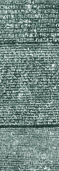 Hieroglyph Photograph - The Rosetta Stone by Egyptian School