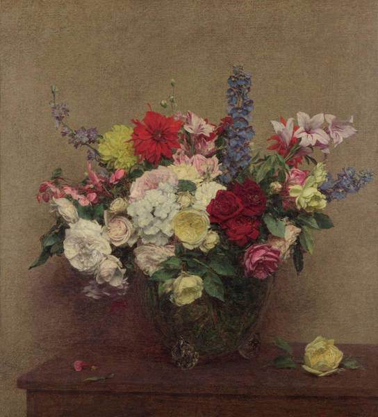 Wall Art - Painting - The Rosy Wealth Of June by Ignace-Henri-Theodore Fantin-Latour