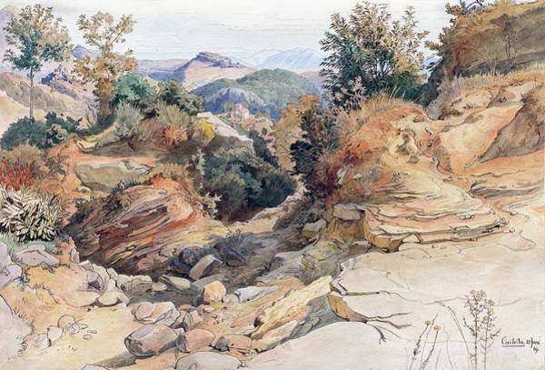 Painting - The Sabine Hills And Rocca Santo Stefano, Seen From Civitella by Victor Paul Mohn