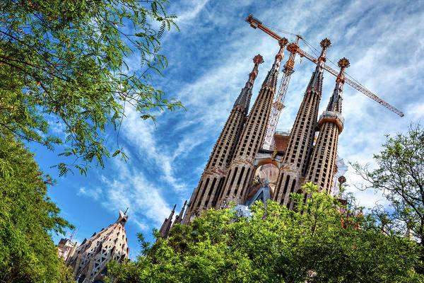 Photograph - The Sagrada Familia by Fine Art Photography Prints By Eduardo Accorinti