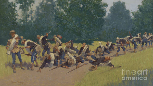 Scream Painting - The Scream Of Shrapnel At San Juan Hill by Frederic Remington