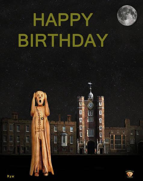 Mixed Media - The Scream World Tour St James's Palace Happy Birthday by Eric Kempson