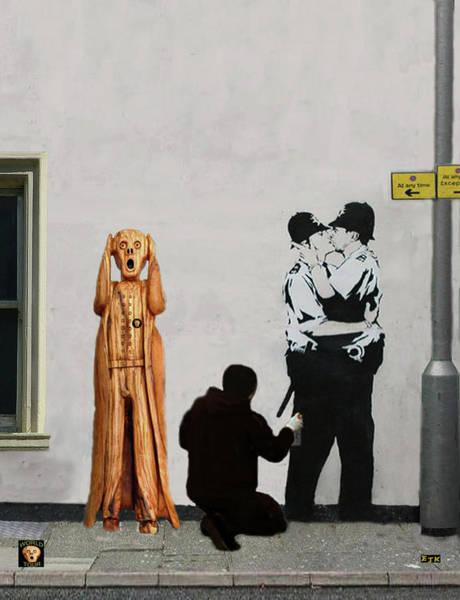 Mixed Media - The Scream World Tour Street Art by Eric Kempson