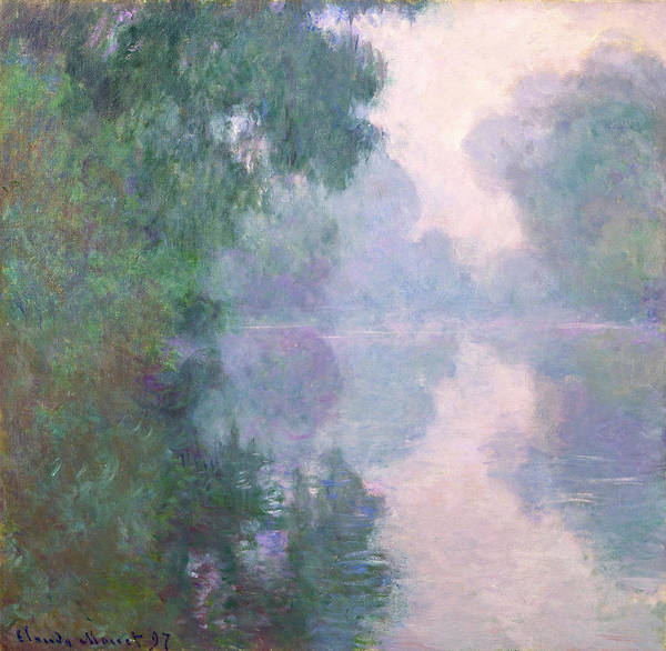 Giverny Painting - The Seine At Giverny, Morning Mists by Claude Monet
