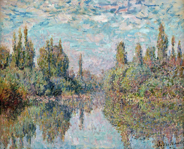 Vetheuil Wall Art - Painting - The Seine At Vetheuil by Claude Monet