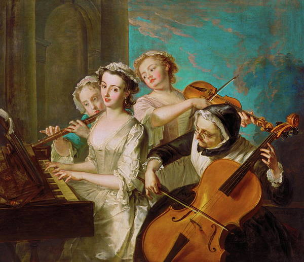 Violin Wall Art - Painting - The Sense Of Hearing by Mountain Dreams