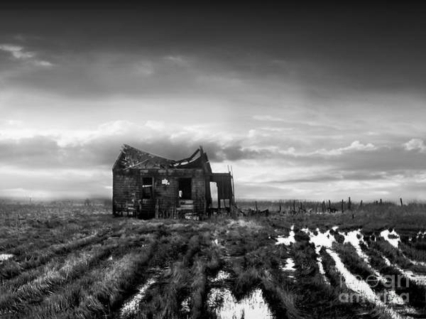 Black And White Photograph - The Shack by Dana DiPasquale