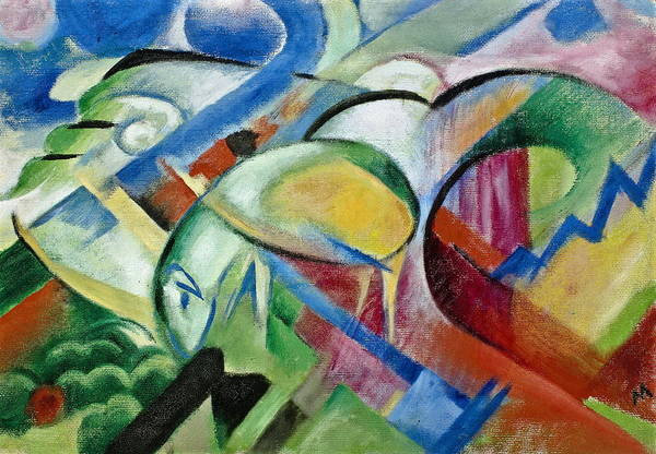 Painting - The Sheep by Franz Marc
