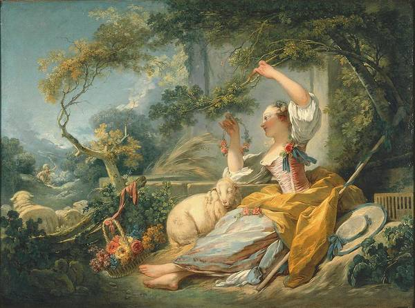 Wall Art - Painting - The Shepherdess by Fragonard