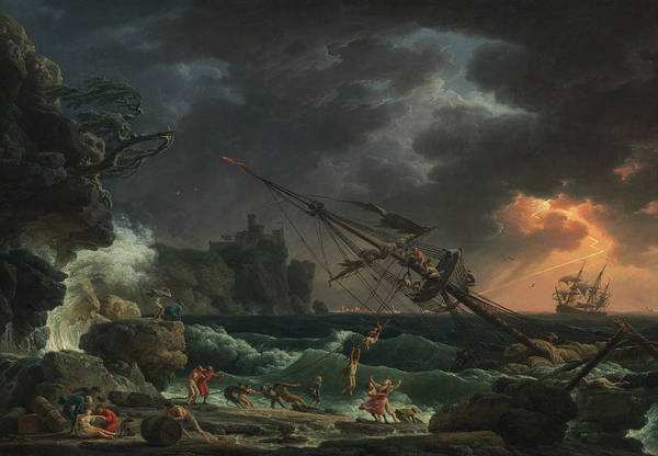 Shipwreck Painting - The Shipwreck by Claude-Joseph Vernet