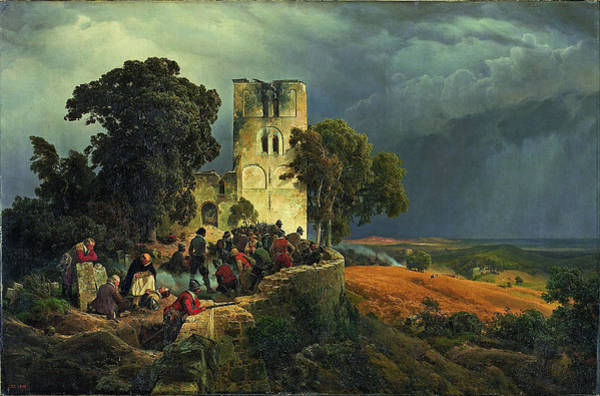 Painting - The Siege by Carl Friedrich Lessing