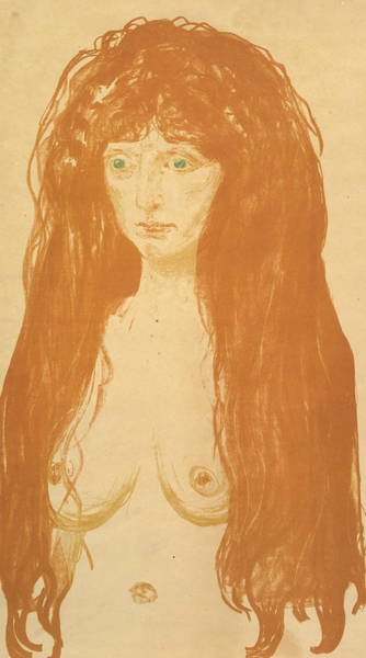 Relief - The Sin by Edvard Munch