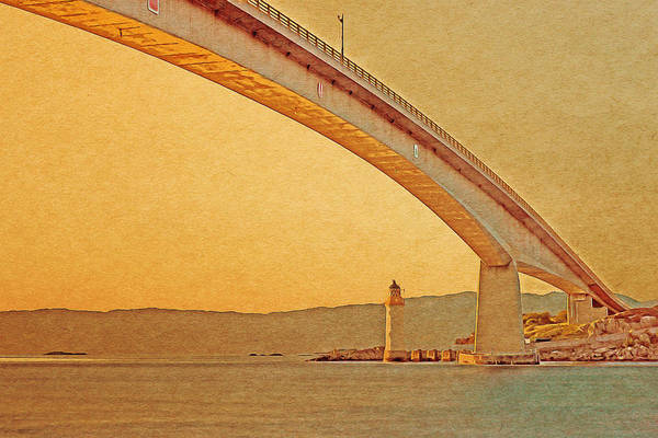 Digital Art - The Skye Bridge And Kyleakin Lighthouse by Anthony Murphy