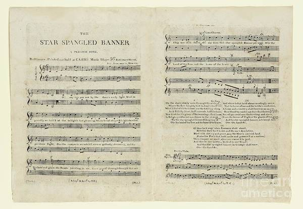 Usa Drawing - The Star Spangled Banner by Francis Scott Key
