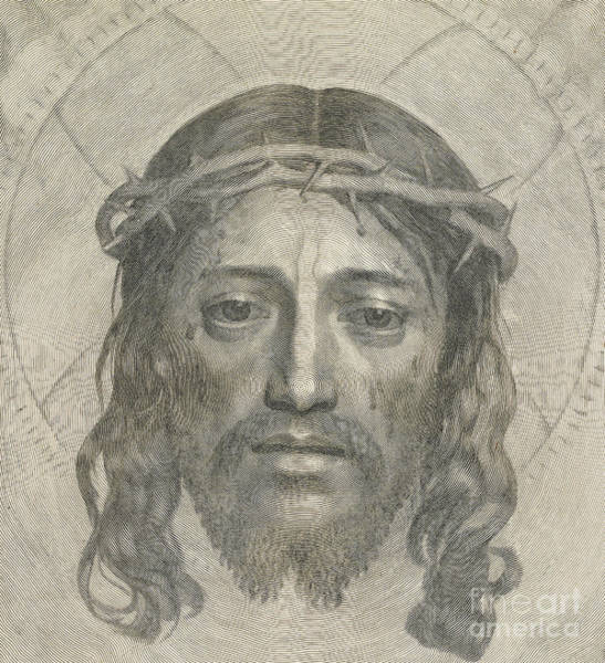 Christ Drawing - The Sudarium Of Saint Veronica by Claude Mellan