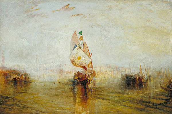 J. M. W. Turner Painting - The Sun Of Venice Going To Sea by JMW Turner