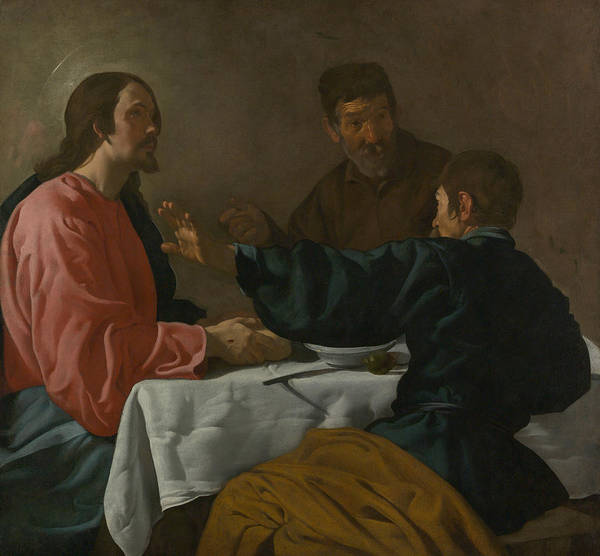 Velazquez Wall Art - Painting - The Supper At Emmaus by Diego Velazquez