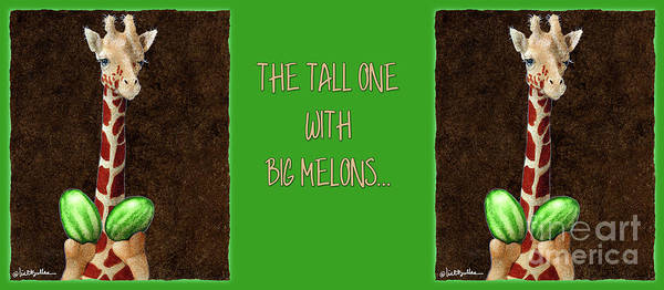 Painting - The Tall One With Big Melons... by Will Bullas