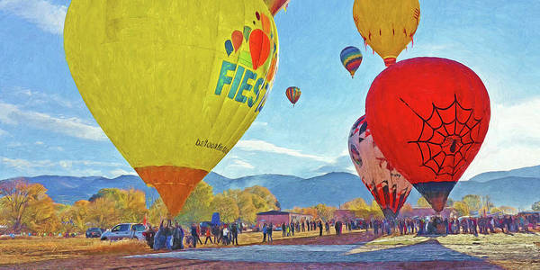 Digital Art - The Taos Mountain Balloon Rally 5 by Digital Photographic Arts