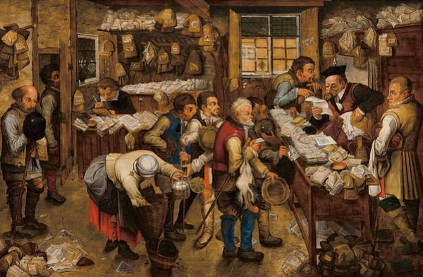 Painting - The Tax-collector's Office by Pieter Brueghel the Younger