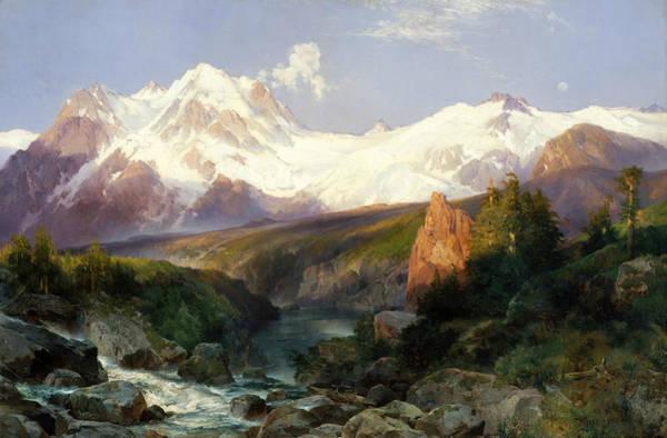 Moran Painting - The Teton Range by Thomas Moran