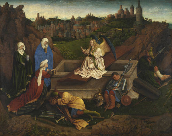 Redeemer Wall Art - Painting - The Three Marys At The Tomb by Jan van Eyck