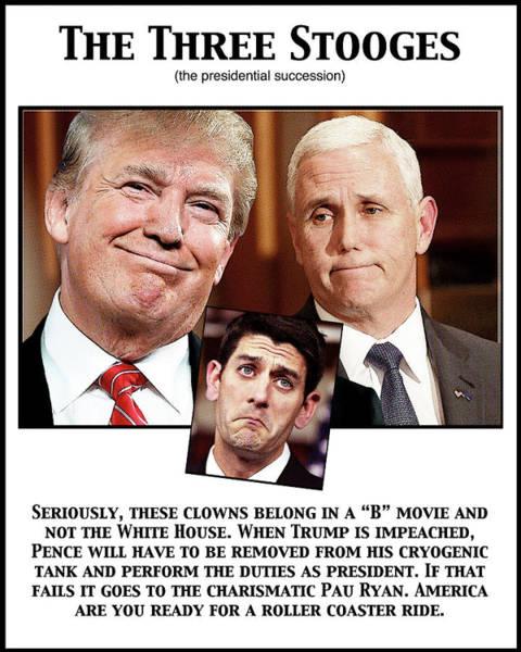 Trump Digital Art - The Three Stooges by Joe  Palermo