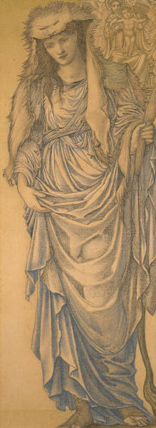 Drawing - The Tiburtine Sibyl  by Edward Burne-Jones