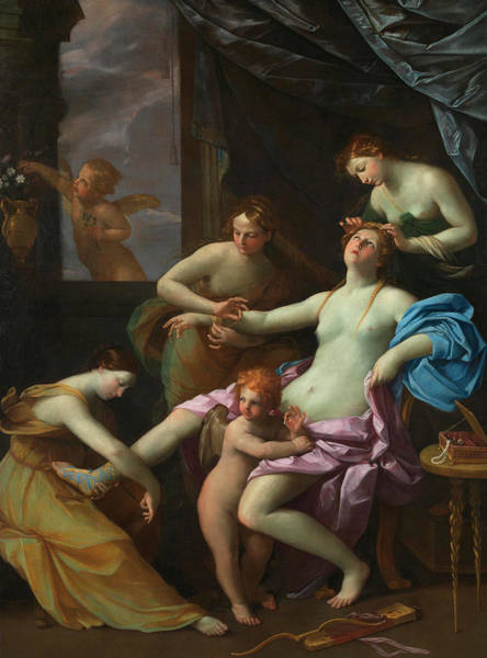 Wall Art - Painting - The Toilet Of Venus by Guido Reni