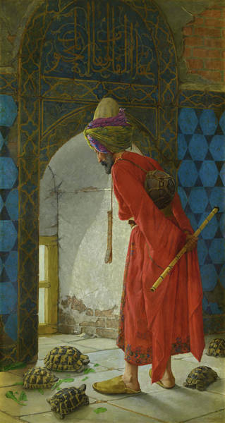 Wall Art - Painting - The Tortoise Trainer by Osman Hamdi Bey