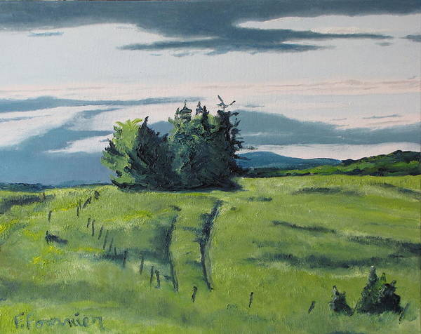 Wall Art - Painting - The Trail On The Grass by Francois Fournier