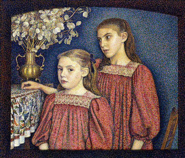 Painting - The Two Sisters Or The Serruys Sisters by Georges Lemmen